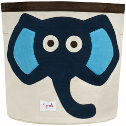 3S blue elephant bin