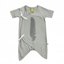 NO hadagi gown grey feather