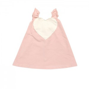 GGB heart dress grapefruit