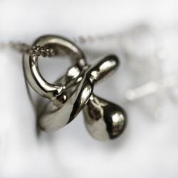 AJ pacifier silver