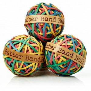 MKO rubber band ball