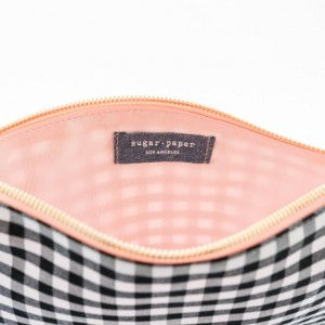 SP pouch gingham open