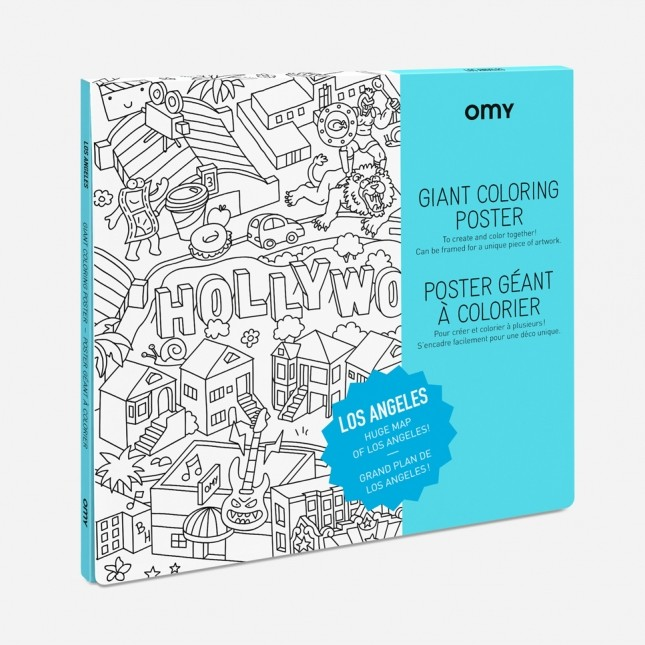 OMY Los Angeles Giant Coloring Poster