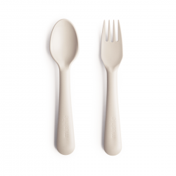 M fork and spoon